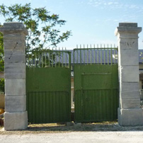 Old Gate and stone pillars
